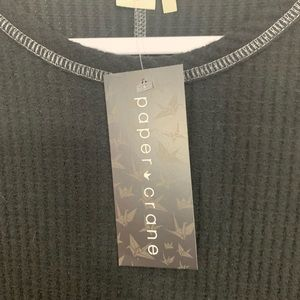 Anthropologie Tops - NWT Anthropologie Paper Crane Black Thermal Top